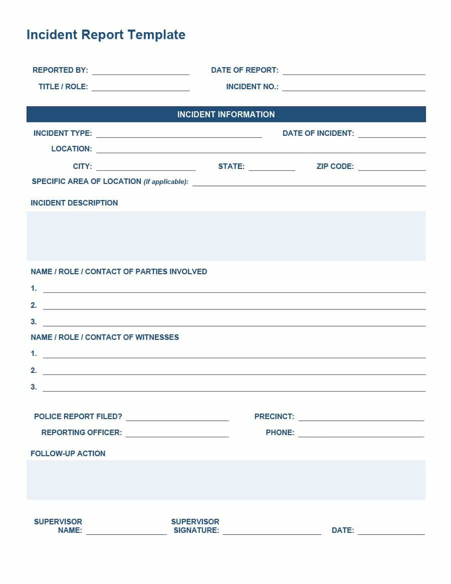 20+ Police Report Template & Examples [Fake / Real] ᐅ Throughout Fake Police Report Template