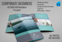 20 Single Fold Brochure Templates With Half Page Brochure Template