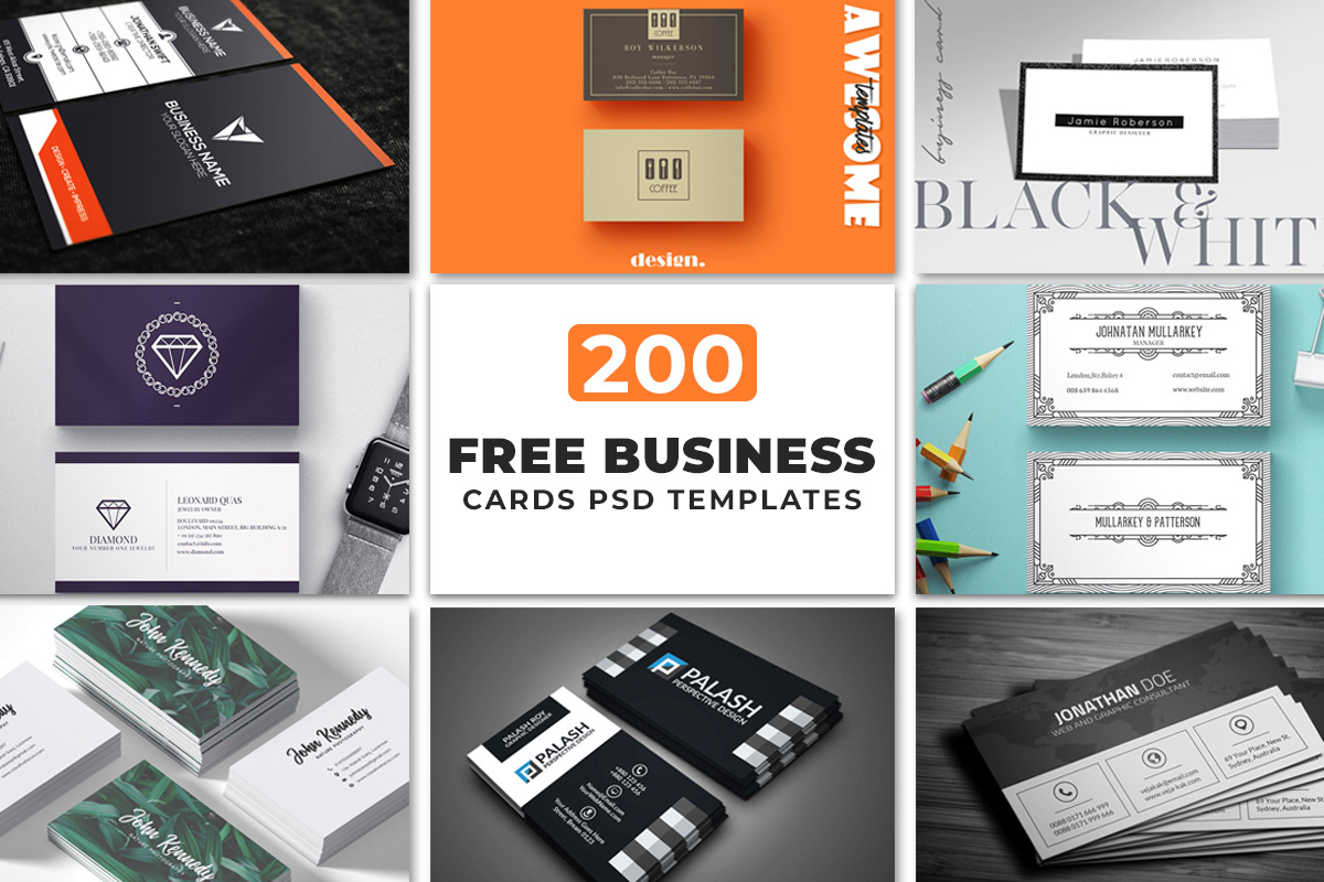 200 Free Business Cards Psd Templates – Creativetacos Pertaining To Iphone Business Card Template