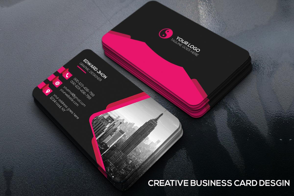 200 Free Business Cards Psd Templates - Creativetacos With Calling Card Template Psd