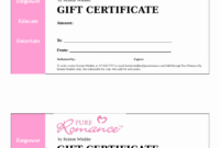 2018 Gift Certificate Form Fillable Printable Pdf Intended regarding Fillable Gift Certificate Template Free