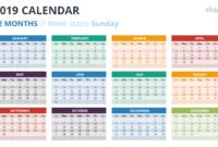 2019 Calendar Powerpoint Templates throughout Powerpoint Calendar Template 2015