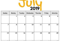 2019 Free Printable Calendar For Kids ('cause Children Love within Blank Calendar Template For Kids