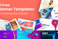 21 Free Banner Templates For Photoshop And Illustrator in Adobe Photoshop Banner Templates