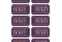 22 Free Event Ticket Templates (Ms Word) ᐅ Template Lab in Get Out Of Jail Free Card Template