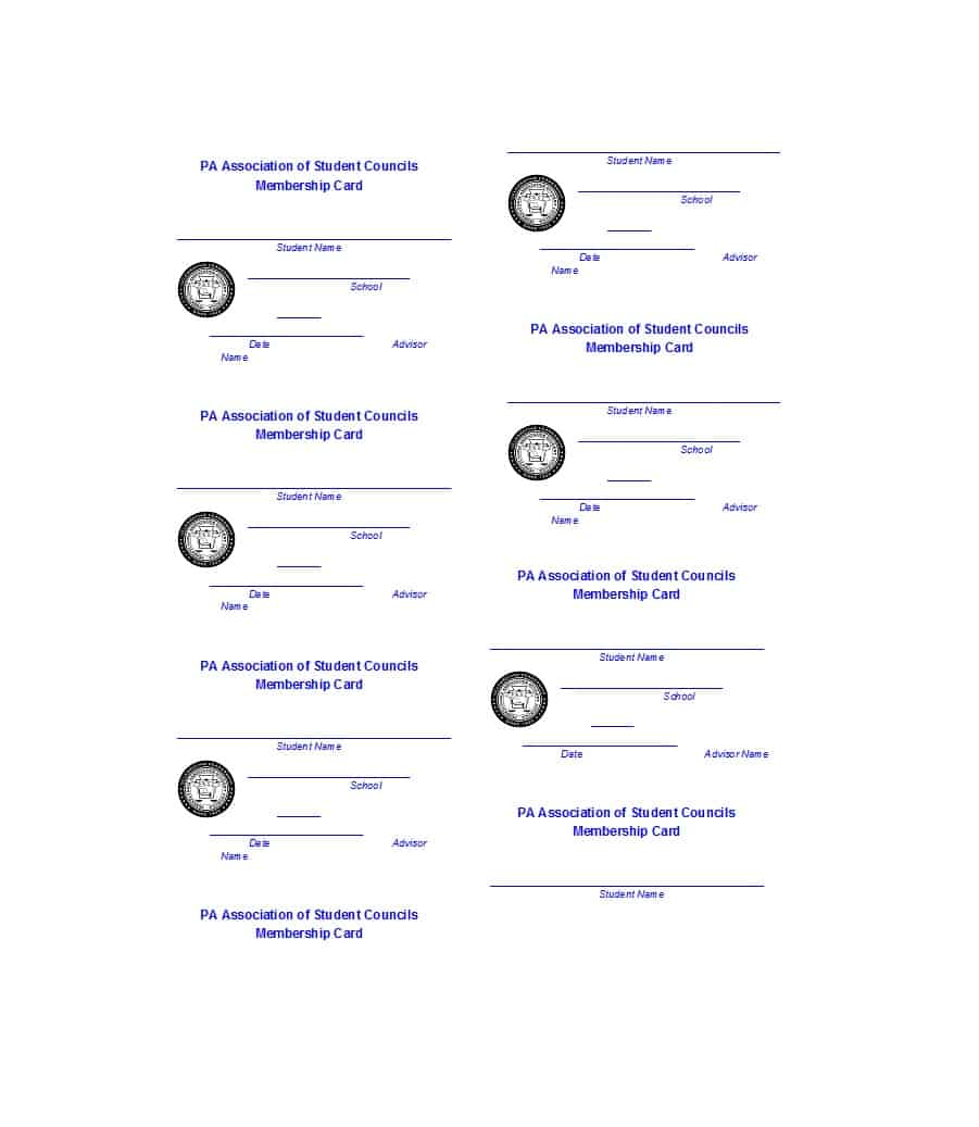 25 Cool Membership Card Templates & Designs (Ms Word) ᐅ Regarding Template For Membership Cards