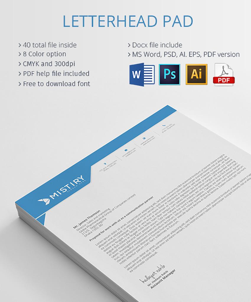 25 Professional Modern Letterhead Templates Throughout Free Letterhead Templates For Microsoft Word