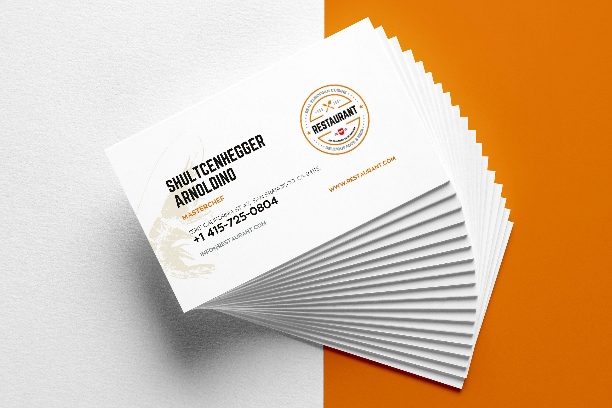 27+ Creative Restaurant Business Card Templates – Ai, Apple With Regard To Business Cards For Teachers Templates Free
