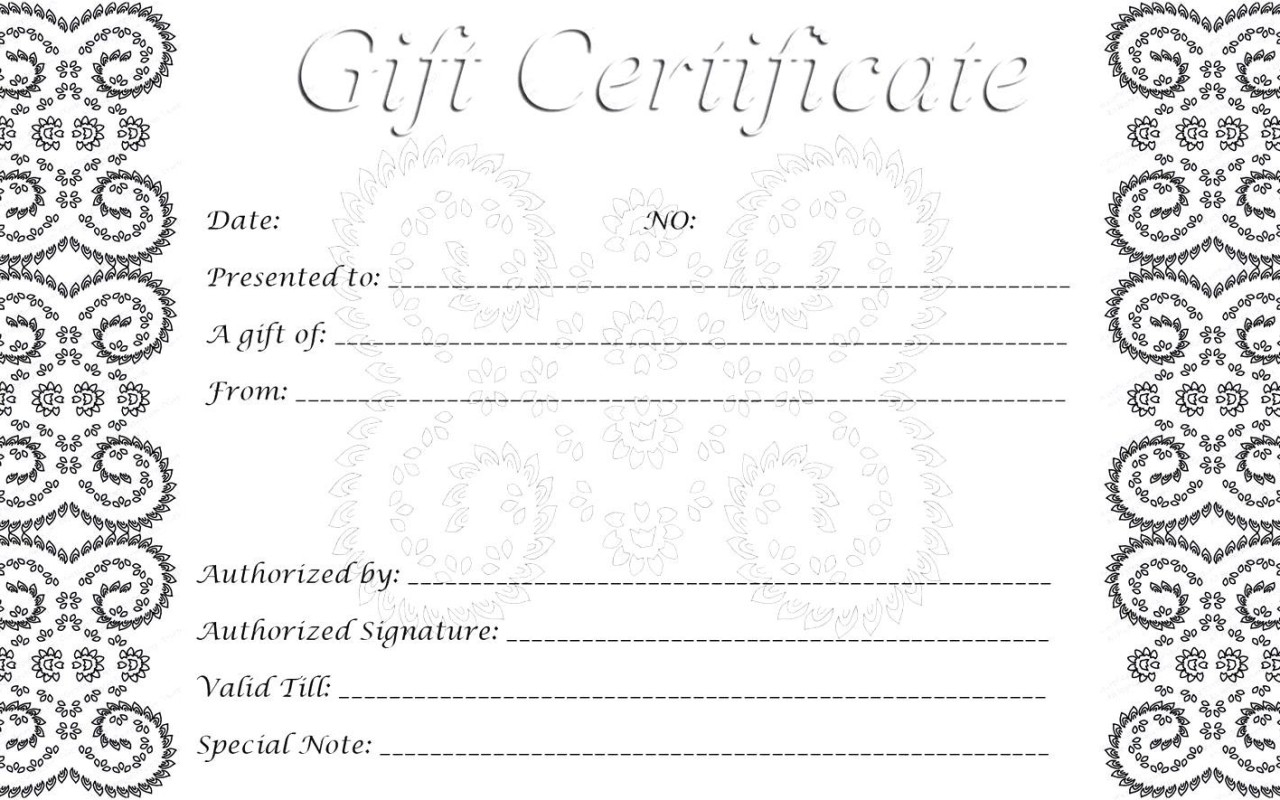 28 Cool Printable Gift Certificates | Kittybabylove Throughout Printable Gift Certificates Templates Free