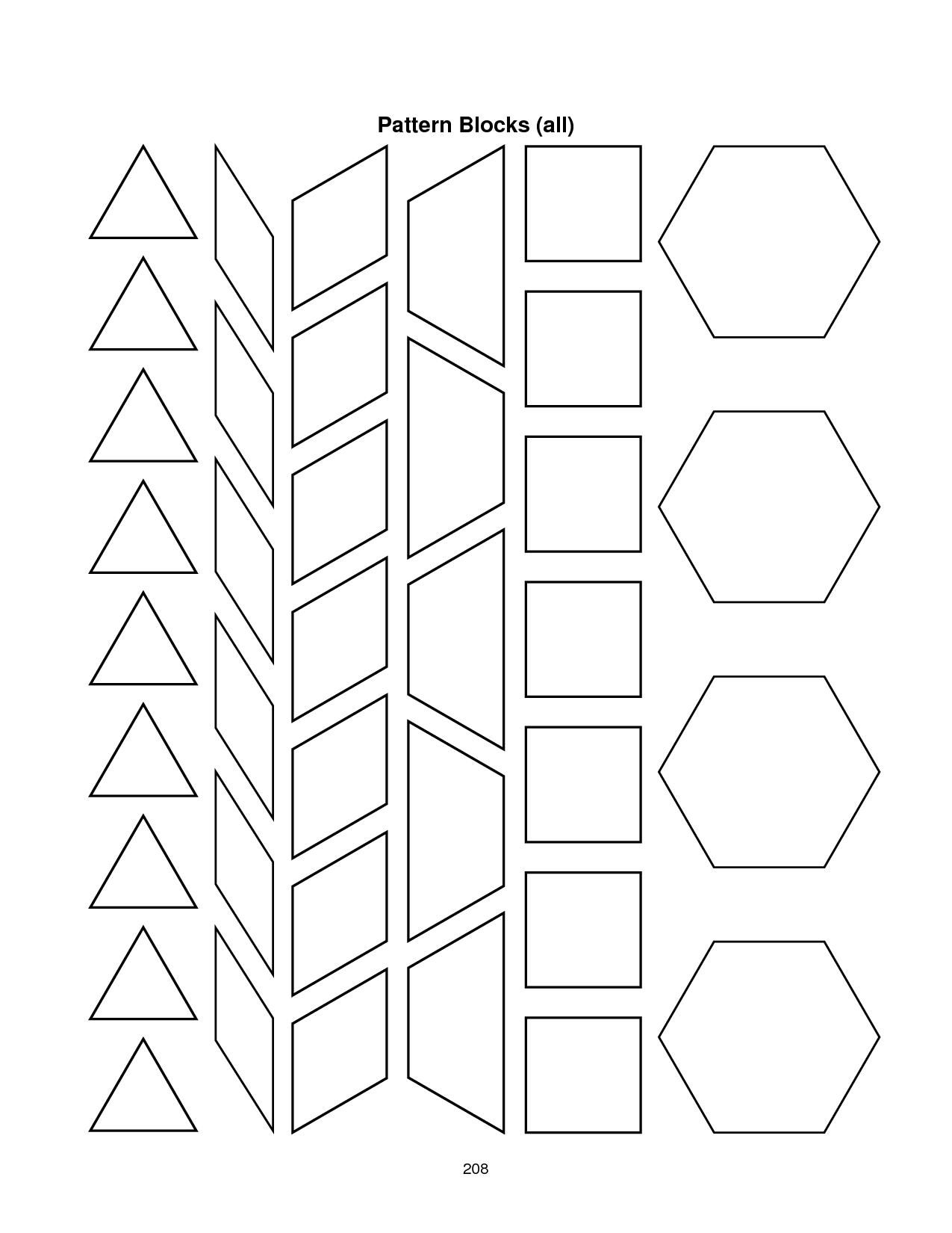 28 Images Of Blank Alphabet Pattern Block Template   Migapps Pertaining To Blank Pattern Block Templates