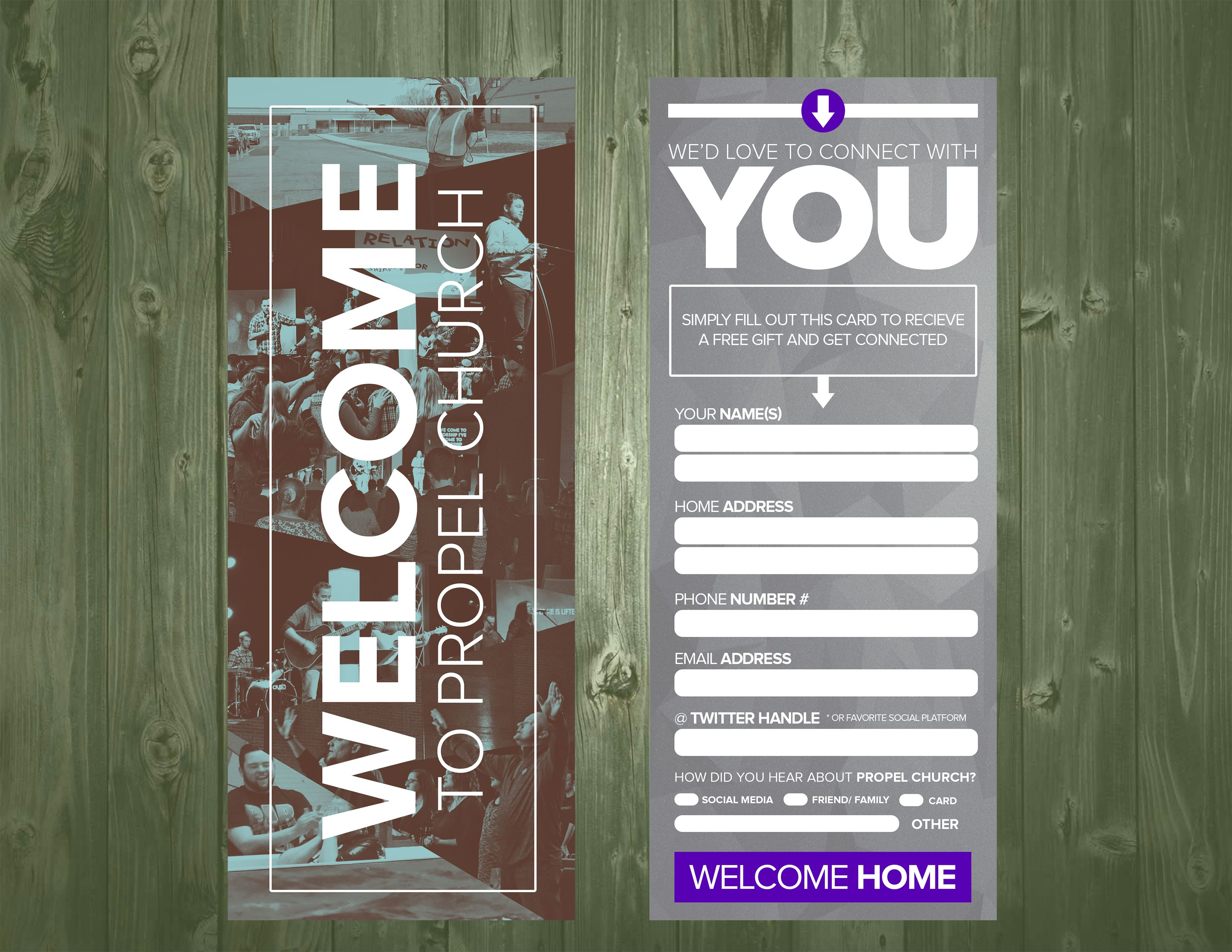 3.5×9 Psd Connection Card Template | Church Visitor Ideas For Church Visitor Card Template Word