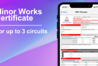 3 Circuit Minor Works Electrical Certificate – Icertifi with Electrical Minor Works Certificate Template
