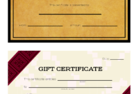3 Ways To Make Your Own Printable Certificate – Wikihow Inside Automotive Gift Certificate Template
