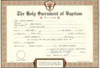 30 Catholic Baptism Certificate Template | Pryncepality throughout Roman Catholic Baptism Certificate Template