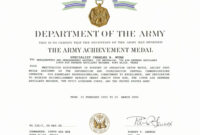 30 Certificate Of Achievement Army Form | Pryncepality with regard to Army Certificate Of Achievement Template