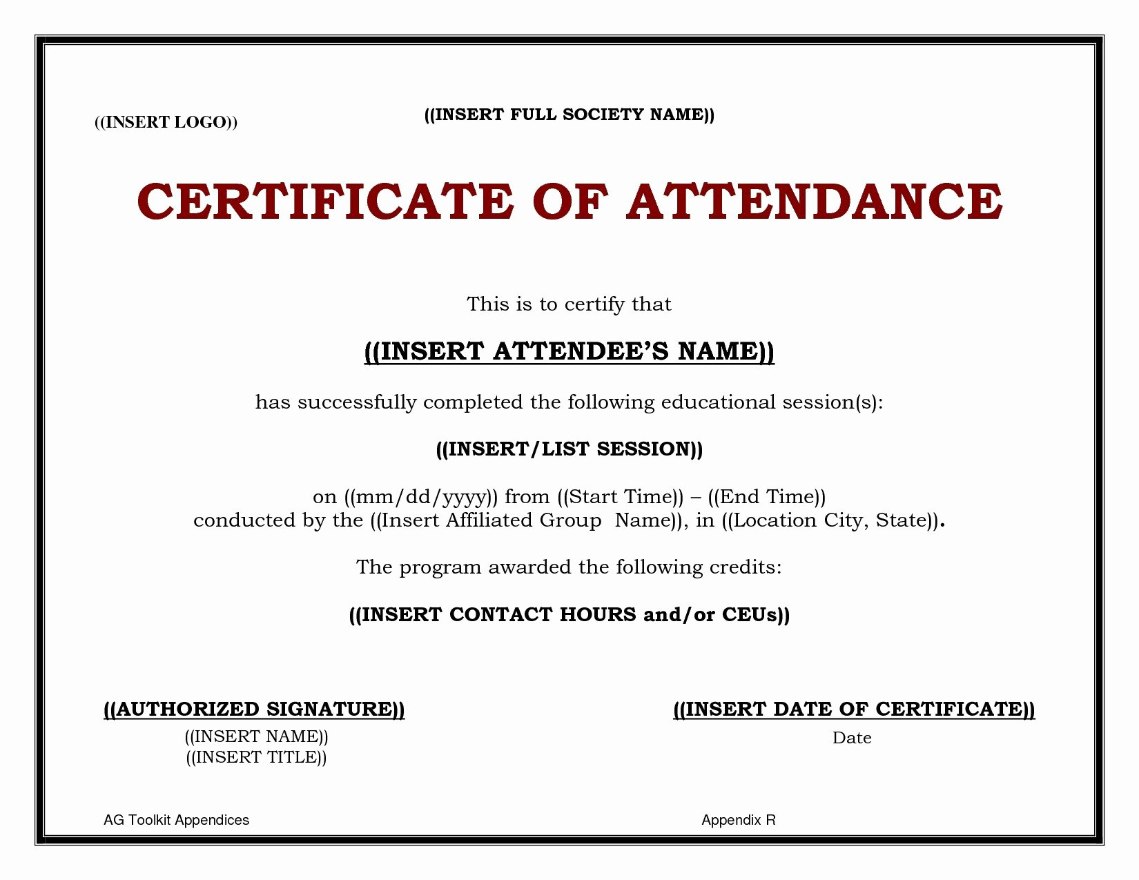 30 Ceu Certificate Of Attendance Template | Pryncepality Throughout Ceu Certificate Template