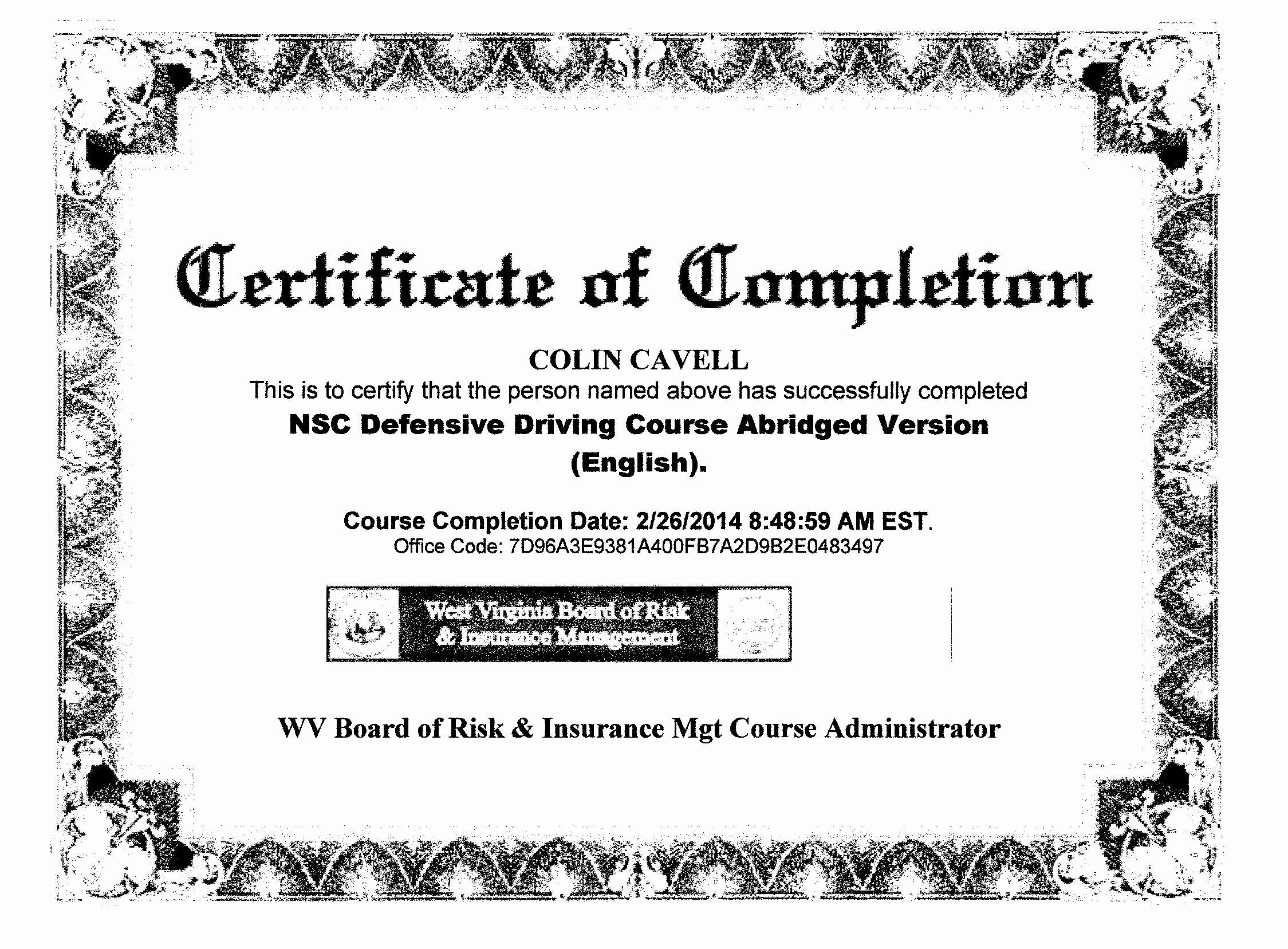 30 Defensive Driving Certificate Template | Pryncepality In Safe Driving Certificate Template