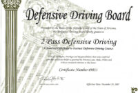 30 Fast Defensive Driving Course Online Print Certificate for Safe Driving Certificate Template