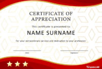 30 Free Certificate Of Appreciation Templates And Letters for Long Service Certificate Template Sample