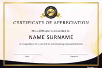 30 Free Certificate Of Appreciation Templates And Letters regarding Army Certificate Of Appreciation Template