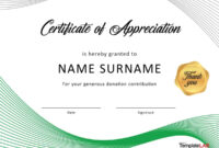 30 Free Certificate Of Appreciation Templates And Letters regarding Certificate Of Recognition Word Template
