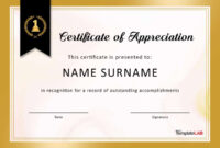 30 Free Certificate Of Appreciation Templates And Letters regarding Long Service Certificate Template Sample
