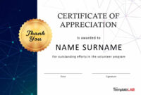 30 Free Certificate Of Appreciation Templates And Letters regarding Thanks Certificate Template