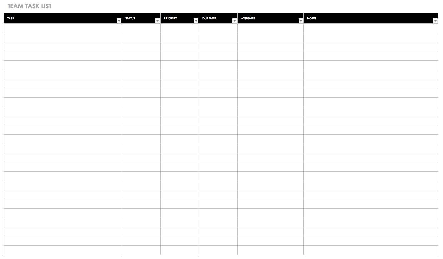 30+ Free Task And Checklist Templates | Smartsheet Inside Blank Checklist Template Word