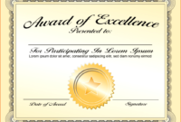 30 Inspirations Of Blank Award Certificate Templates Word inside Scholarship Certificate Template Word