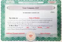30 Llc Membership Certificate Template   Pryncepality within Llc Membership Certificate Template Word