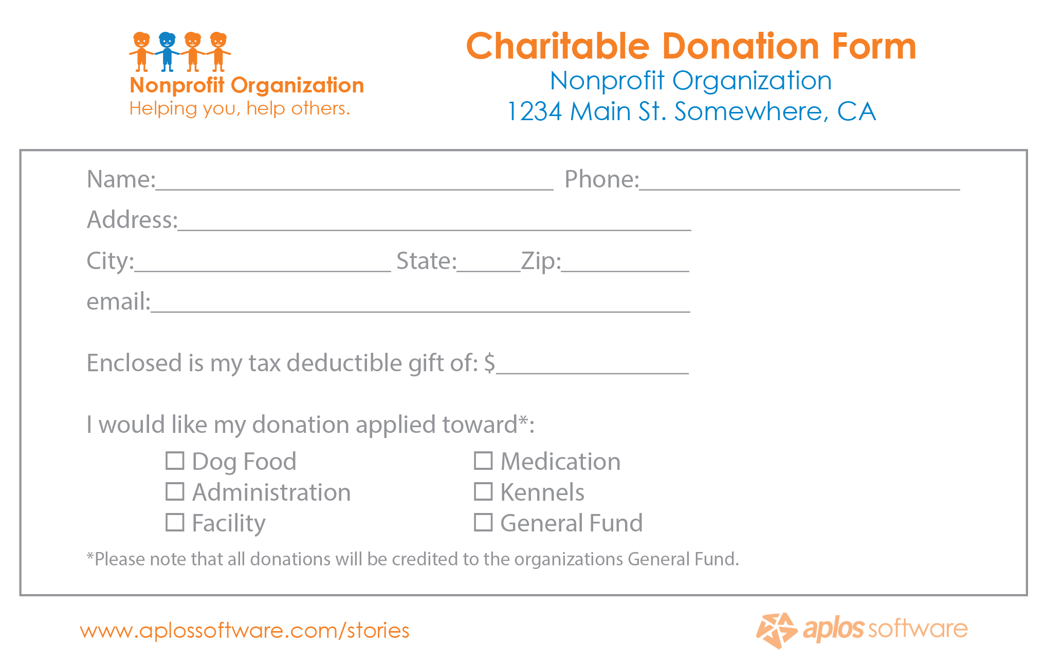36+ Free Donation Form Templates In Word Excel Pdf Within Donation Card Template Free