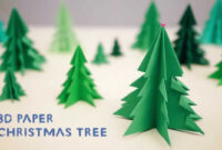 3D Paper Christmas Tree throughout 3D Christmas Tree Card Template