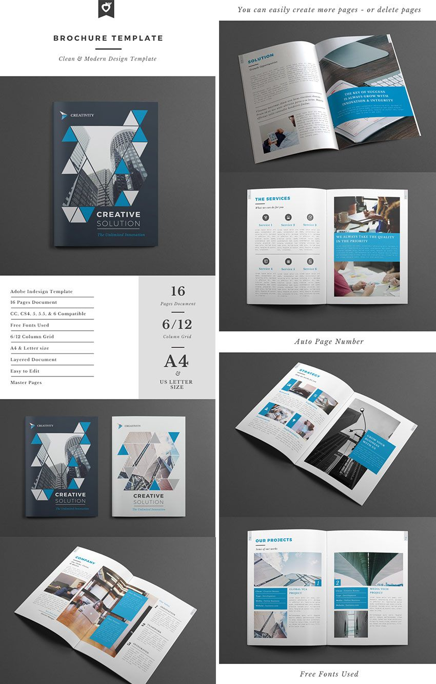 4 Page Brochure Design Templates | Rohanspong With Regard To 12 Page Brochure Template