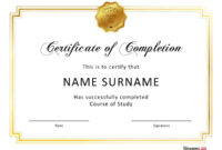 40 Fantastic Certificate Of Completion Templates [Word inside 5Th Grade Graduation Certificate Template