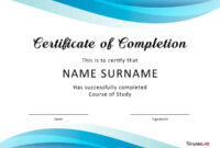 40 Fantastic Certificate Of Completion Templates [Word intended for Workshop Certificate Template