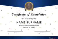 40 Fantastic Certificate Of Completion Templates [Word throughout Blank Certificate Templates Free Download