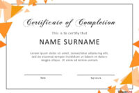 40 Fantastic Certificate Of Completion Templates [Word within Certificate Of Participation In Workshop Template