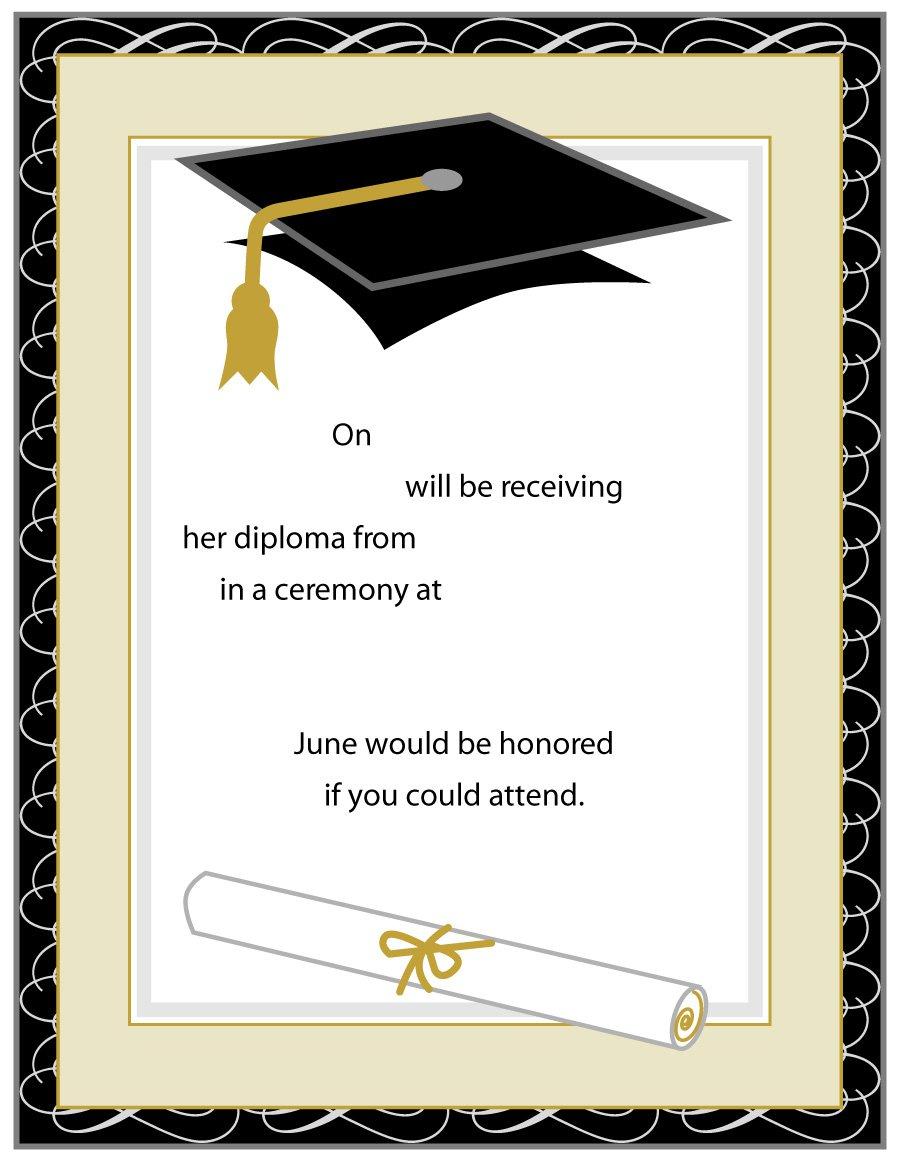 40+ Free Graduation Invitation Templates ᐅ Template Lab Throughout Free Graduation Invitation Templates For Word