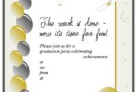 40+ Free Graduation Invitation Templates ᐅ Template Lab with Free Graduation Invitation Templates For Word