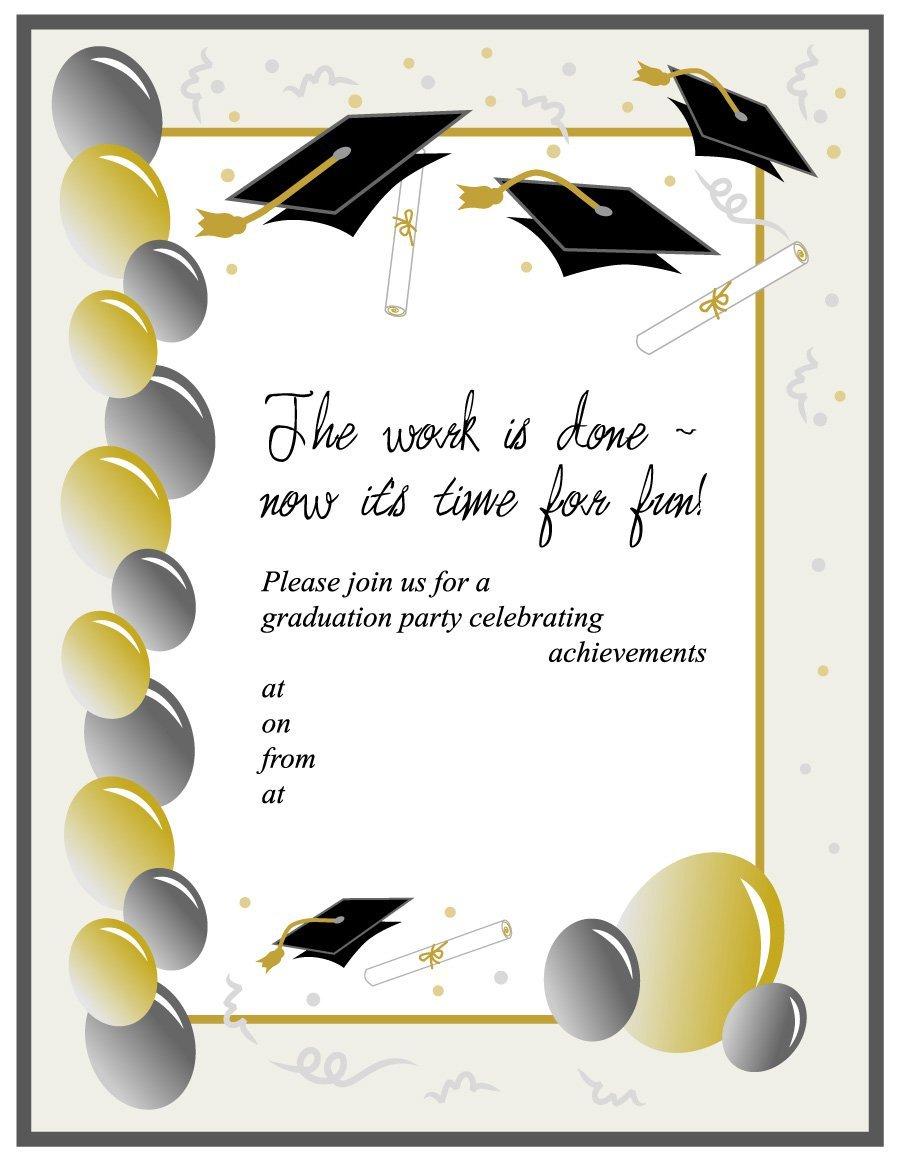 40+ Free Graduation Invitation Templates ᐅ Template Lab With Graduation Party Invitation Templates Free Word