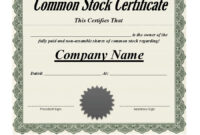 40+ Free Stock Certificate Templates (Word, Pdf) ᐅ Template Lab within Corporate Bond Certificate Template