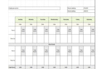 40 Free Timesheet Templates [In Excel] ᐅ Template Lab Within Weekly Time Card Template Free