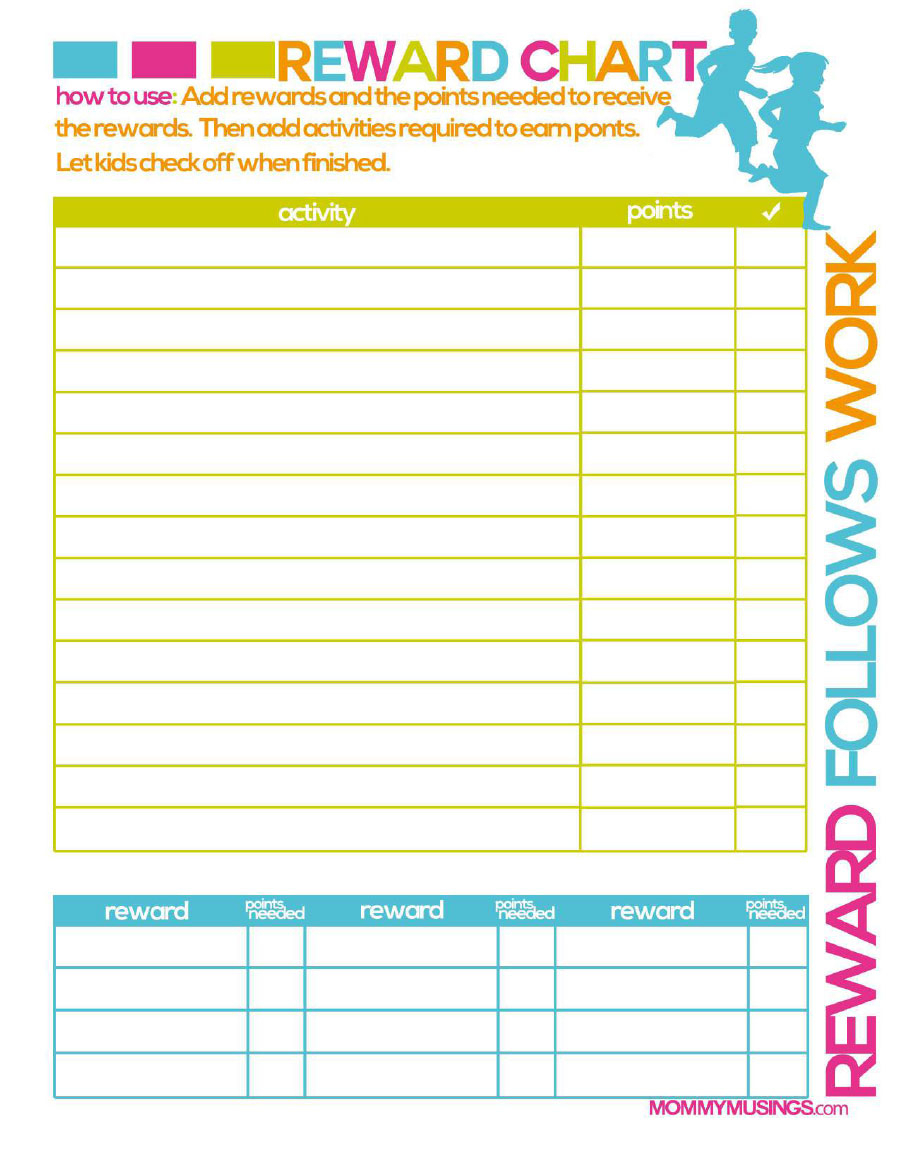 40 Printable Reward Charts For Kids (Pdf, Excel & Word) Throughout Reward Chart Template Word
