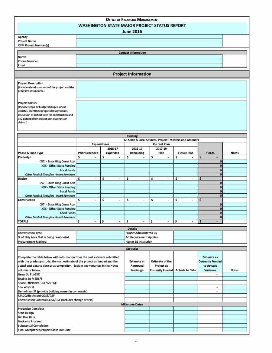 40+ Project Status Report Templates [Word, Excel, Ppt] ᐅ Regarding Job Progress Report Template