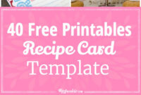40 Recipe Card Template And Free Printables – Tip Junkie inside Cookie Exchange Recipe Card Template