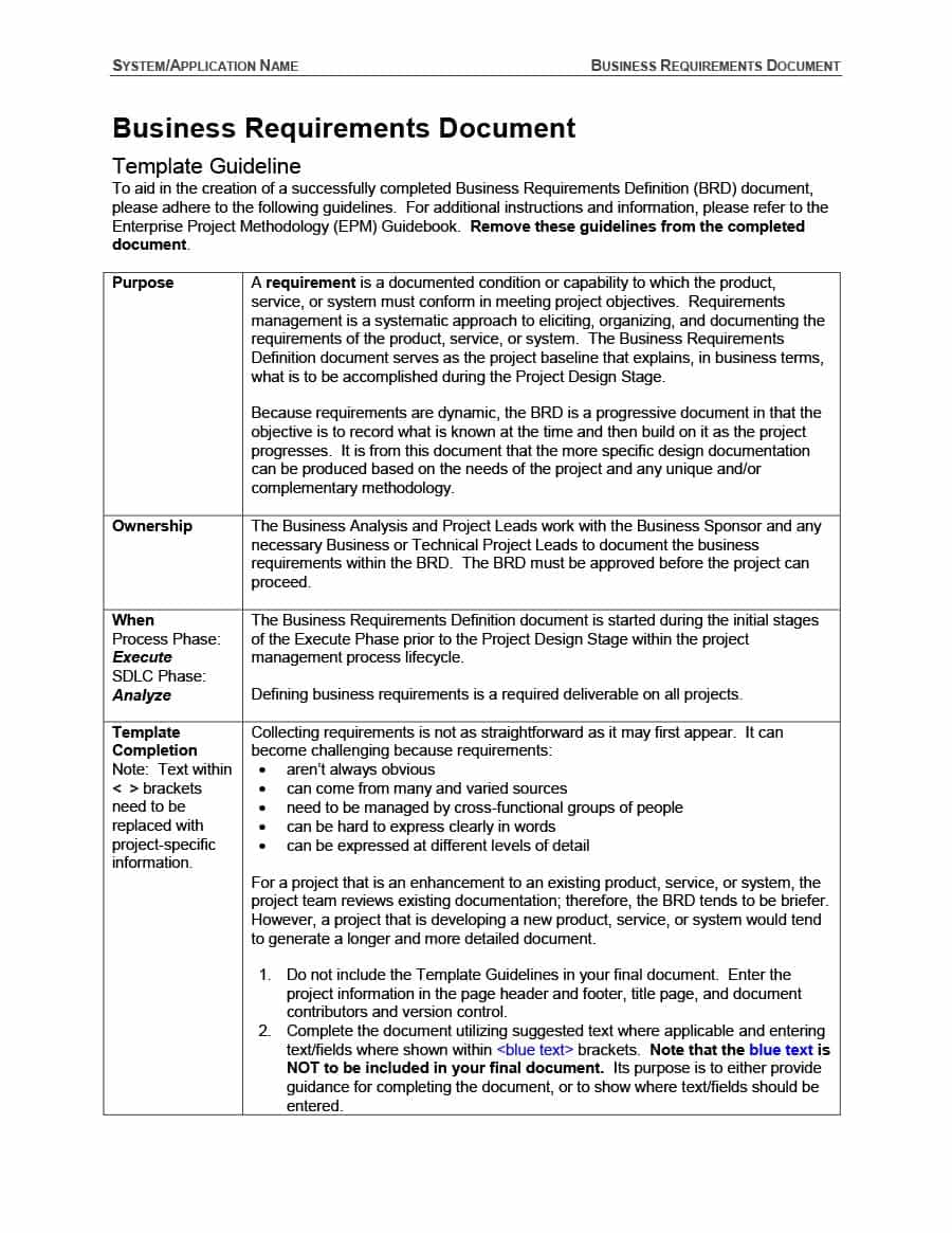 40+ Simple Business Requirements Document Templates ᐅ Within Product Requirements Document Template Word