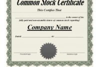 41 Free Stock Certificate Templates (Word, Pdf) – Free throughout Share Certificate Template Australia