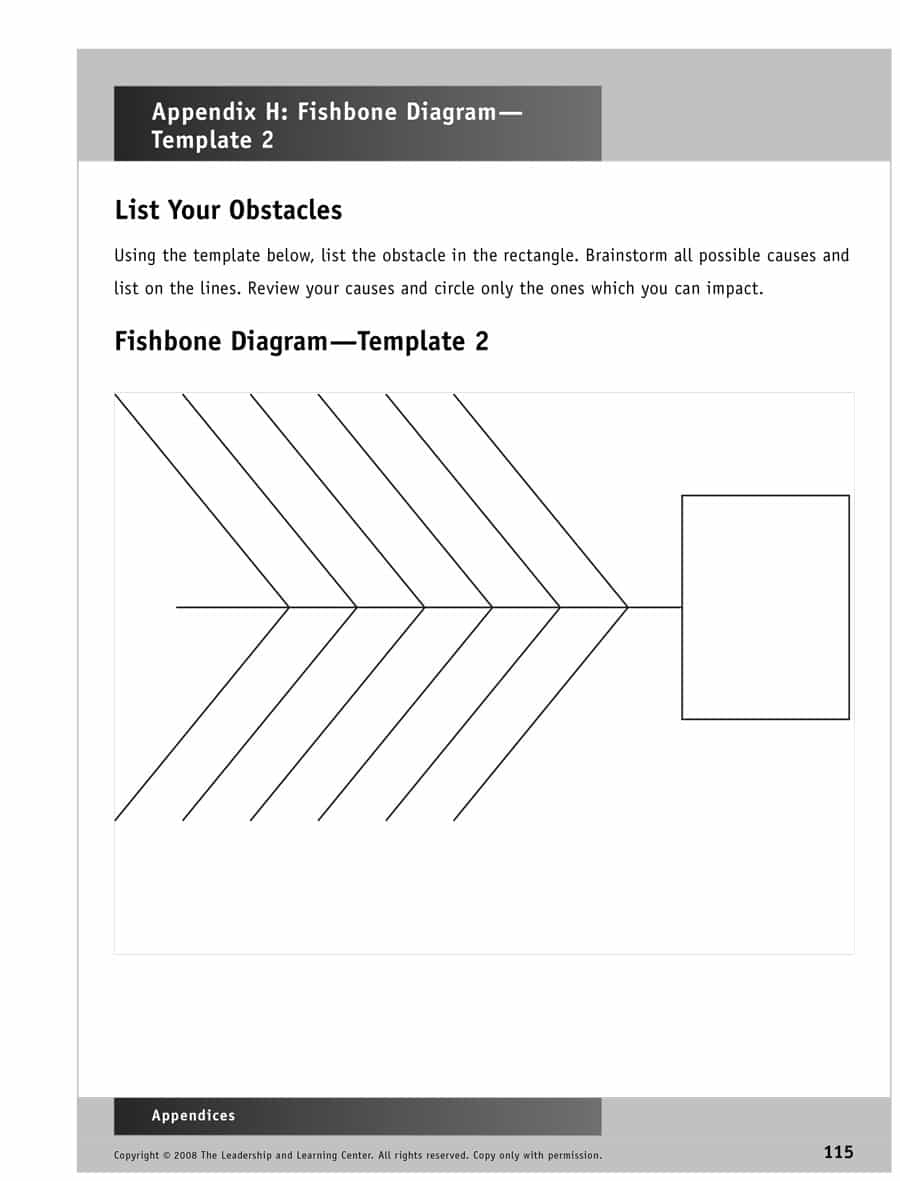 43 Great Fishbone Diagram Templates & Examples [Word, Excel] For Ishikawa Diagram Template Word