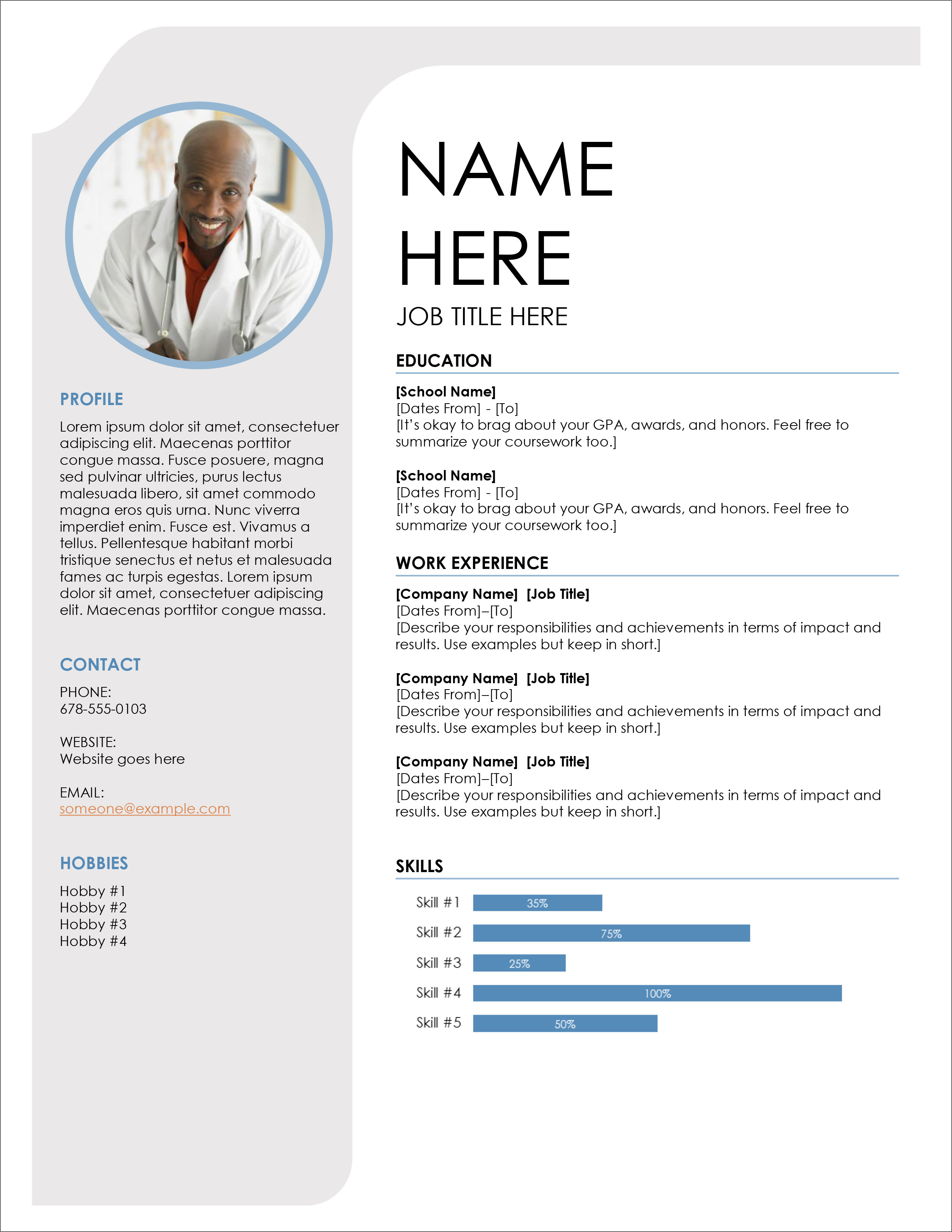 45 Free Modern Resume / Cv Templates – Minimalist, Simple Pertaining To Microsoft Word Resumes Templates