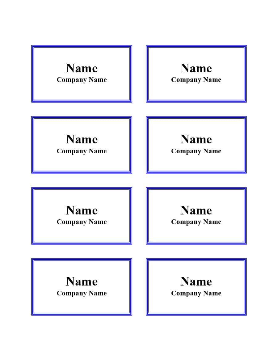47 Free Name Tag + Badge Templates ᐅ Template Lab Regarding Visitor Badge Template Word